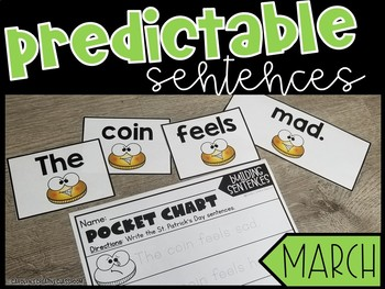 March Predictable Sentences - Pocket Chart Literacy Center