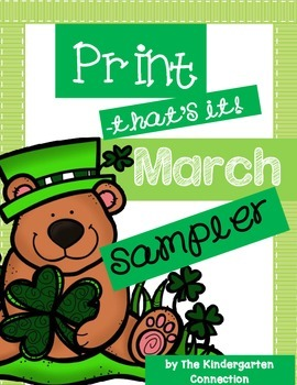 March Print-That's It! Kindergarten Math and Literacy Prin