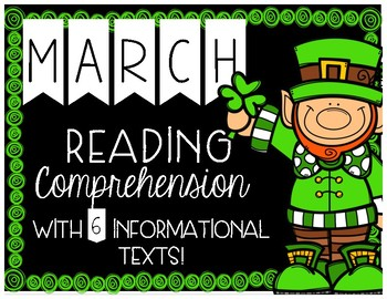 March Reading Comprehension with 6 Informational Texts