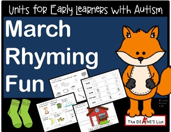 March Rhyming Fun: A Language Development Unit