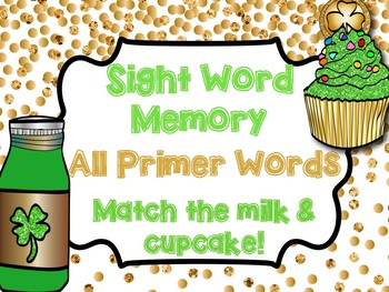 Primer Sight Word Memory Game - March