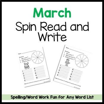 March Spin Read Write FREEBIE