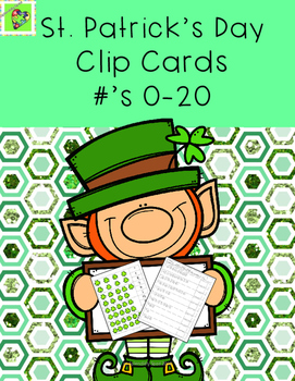 March: St.Patrick's Day Number Correspondence Clip Cards