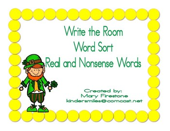March St. Patrick's Day Write the Room Word Sort