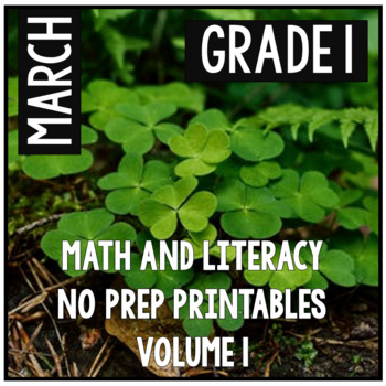 March St. Patrick's Day First Grade Math and Literacy NO P