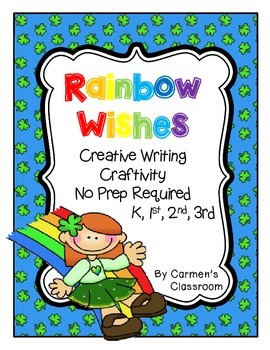 March St. Patrick's Day Rainbow Writing Craftivity NO PREP