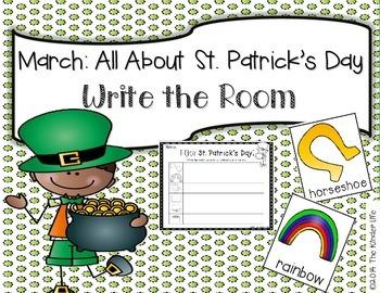March: St. Patrick's Day Write the Room + 2 Bonus Activites