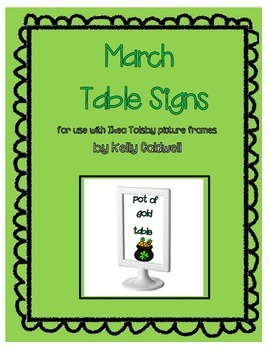 March Table Signs