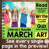 {March Literacy} 4 Themed Units- Reading, Fluency, Writing