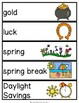March Vocabulary Unit for Special Education