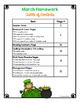 March Weekly Homework Packets - Intermediate Grades