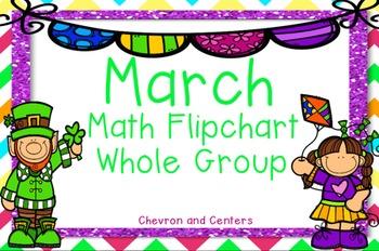 March Whole Group Math Flipchart