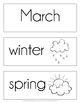 March Word Cards {March Vocabulary}