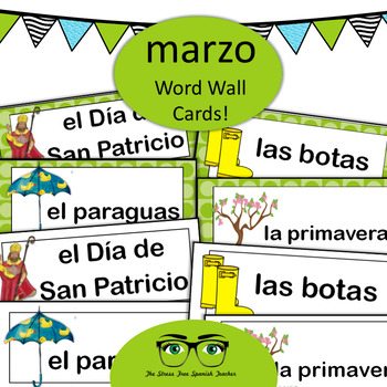 March Word Wall Cards! Spanish version