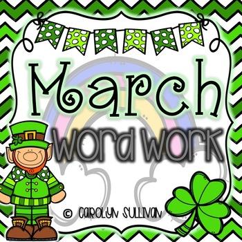 March Word Work for Kindergarten