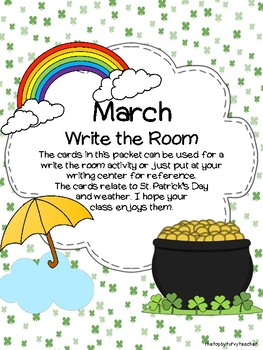 March Write the Room Words