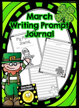 March Writing Prompt Journal