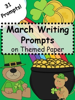 March Writing Prompts on Themed Paper {Just Print & Go!}