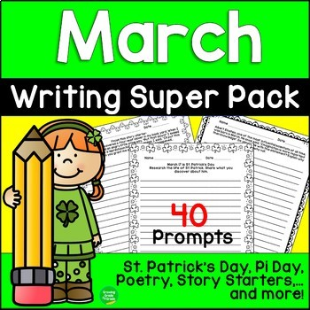 March Writing Super Pack: St. Patrick's Day, March Madness