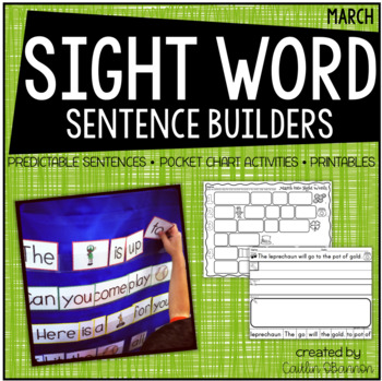 March into Sight Words {Sentence Building Activities for March}