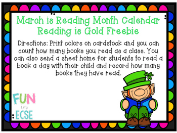 March is Reading Month Freebie