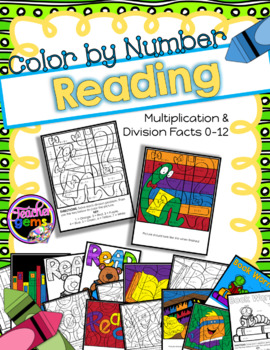 March is Reading Month Math - Color by Number Multiplicati