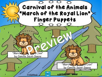 March of the Royal Lion from Carnival of the Animals (Fing