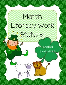 Marching into spring-March Literacy Stations- Lions & Lepr