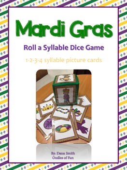 Mard Gras Roll a Syllable Dice Game