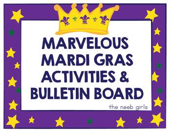 Mardi Gras Activities Set - Masks, Crowns, Frames, & dot-t