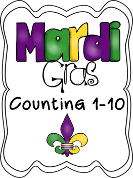 Mardi Gras Counting 1-10
