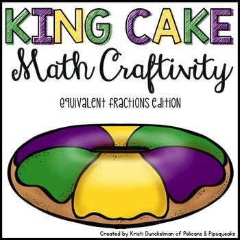 Mardi Gras King Cake Math Craftivity--Equivalent Fractions