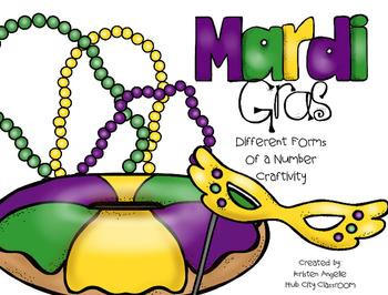 Mardi Gras King Cake- Number Forms