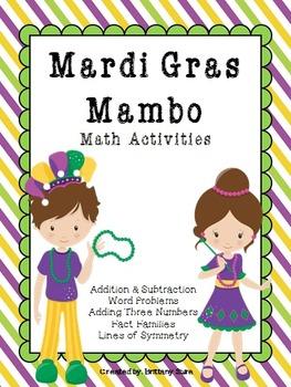 Mardi Gras Mambo *Math Printables* NO PREP NEEDED!