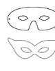 Mardi Gras Masks Templates