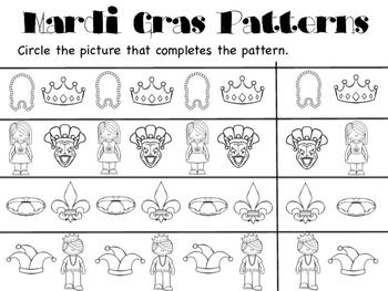Mardi Gras Pattern Pages