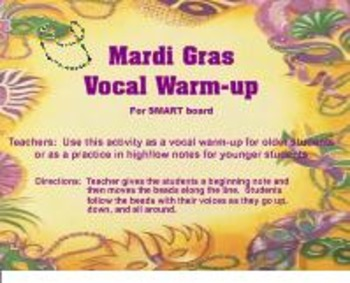 Mardi Gras Vocal Warm-up