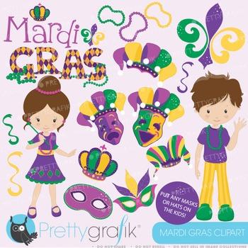 Mardi Gras clipart commercial use, vector graphics, digita