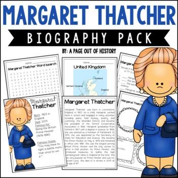 Margaret Thatcher Mini Unit - Reading Passage, Graphic Org