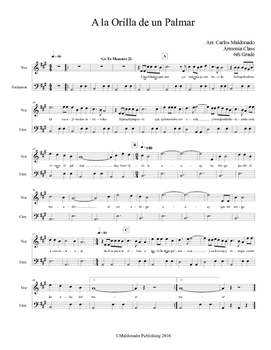 Mariachi: A la Orilla de Un Palmar Beginner Guitarron and Voice