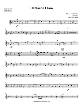 Mariachi: Hablando Claro-Advanced Violin II