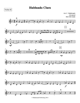 Mariachi: Hablando Claro-Advanced Violin III