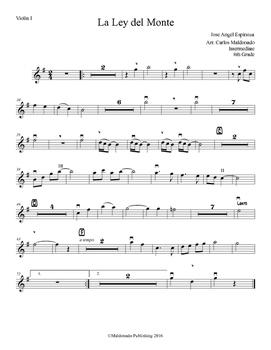 Mariachi: La Ley del Monte-Intermediate Violin I