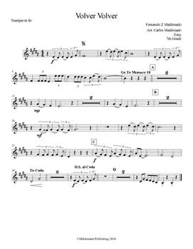 Mariachi: Volver Volver-Easy Trumpet
