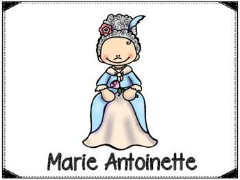 Marie Antoiunette Graphic Organizers