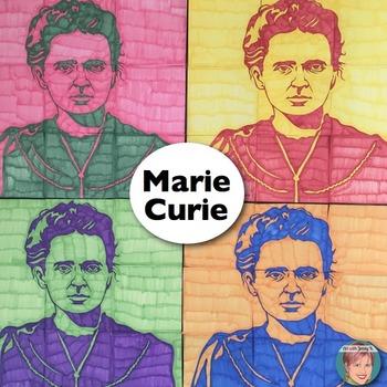 Marie Curie - Collaboration Portrait Poster