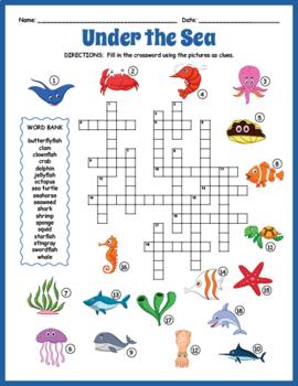 Marine Life Crossword Puzzle