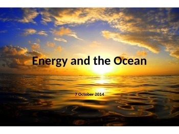 Marine Science - Energy and the Ocean