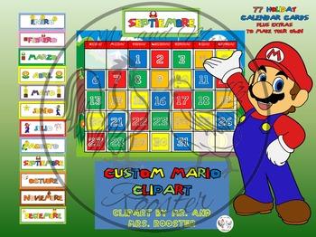 Mario Calendar Bundle in SPANISH! {Calendar, Months, Days,