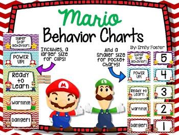 Mario Themed Behavior Charts